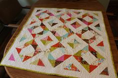 Missouri Star Quilt tutorial using the Four Seasons block with half square triangles -  Moda Wrens and Friends