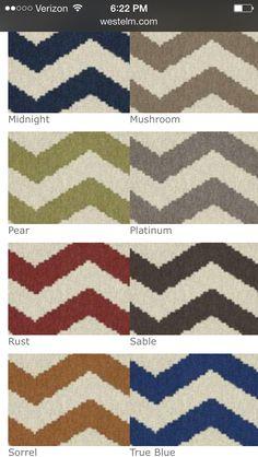 West elm- custom order zigzag rug 2