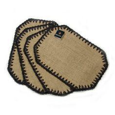 4 peças em juta e crochê com barbante www.gostodefazer.com