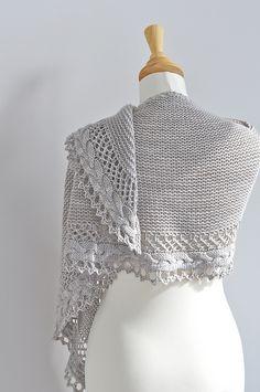 Knitted Mittens Pattern, Lace Knitting Patterns, Shawl Patterns, Knit Mittens, Knitted Shawls, Loom Knitting, Bonnet Crochet, Crochet Shawl, Knit Crochet