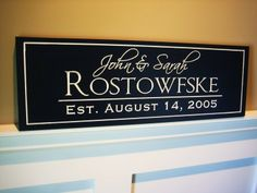 Personalized Family Name Sign Plaque Custom by mrcwoodproducts, $32.00