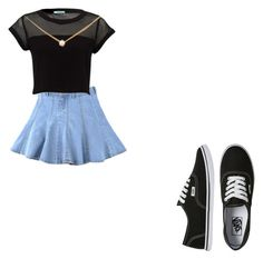"""#semtitulo 16"" by isaa-swag ❤ liked on Polyvore featuring moda, Chicnova Fashion, Vans y Dogeared"