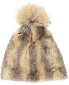 farfetch.com Liska fur beanie on shopstyle.com