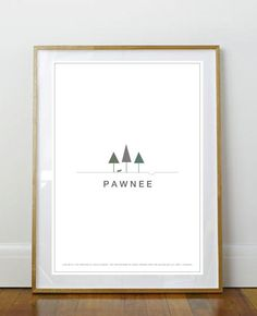 This Minimalist Travel Poster. LOL, little Sebastian's and The Pit!