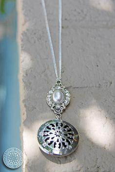 Diffuser necklace by Fashion Scents Essential Jewelry www.fashionscentsjewelry.com