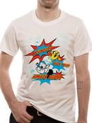 Officially licensed Adventure Time t-shirt design printed on a White 100% cotton short sleeved T-shirt.