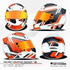 Tom Turschwel helmet design project - On Bell RS7 Pro - With JW Design. ©2017 - K. ROSSI - All rights reserved.