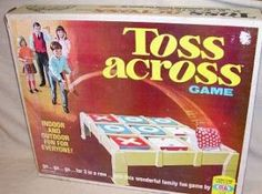 toys games dolls of the 1960, and 1970 | Toss Across was first introduced in