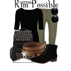 A fashion look from October 2013 featuring boat neck tops, olive jeans and black army boots. Browse and shop related looks.