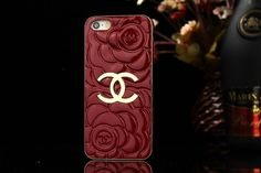 C-hanel Embossing Luxury iPhone 6 Desinger Case Golden Flower Red Chanel Iphone 6 Case, Iphone 6 Case Cover, Iphone 7 Cases, Iphone 5s, Louis Vuitton Hat, Louis Vuitton Handbags, Chanel Rose, Coque Iphone 6, Golden Flower