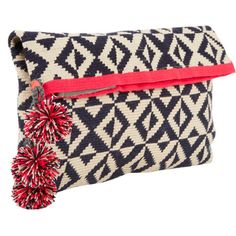 Sophie Anderson Woven Zip Clutch at Barneys.com