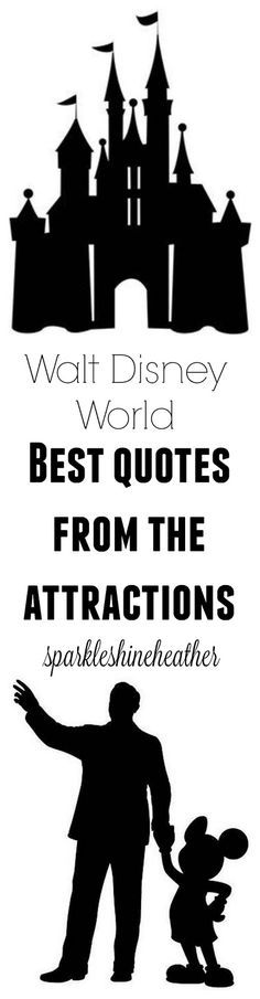 """This list is great for wall art or jewelry to remind you of the parks!   http://sparkleshineheather.blogspot.com/2016/11/favorite-lines-from-walt-disney-world.html  """"There's a great big, beautiful tomorrow!"""" - Carousel of Progress  """"As long as man dreams, works, and builds, progress will go on - in your life and in mine"""" - Carousel of Progress  """"Not moving to the end of your row is distinctly unpatriotic."""" - Muppet Vision 3D  """"You are about to discover what lies beyond the fifth dimension…"""