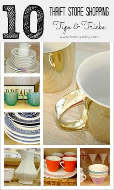 Top 10 Thrift Store Shopping Tips & Tricks! GREAT advice on what to look for at thrift stores and how to re-purpose it!
