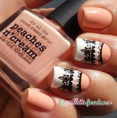*Super cute. I love how only a couple nails are done.