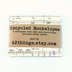 Music Envelopes A2 Snail Mail Upcycled Vintage Sheet by 42Things, $8.00