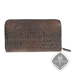 FERI MOSH Exotic - Rizzo - Pocket Book Zip Around Wallet, Exotic, Pocket, Book, Leather, Accessories, Design, Books, Libros