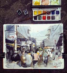 "1,221 Likes, 22 Comments - edwinreinaldo (@edwinrei04) on Instagram: ""Petak9 Jakarta..#artemediagiveaway1 #watercolorsketch #sketchalcoholic #sketsagram #sketch_daily…"""