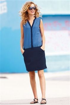 Buy Pocket Linen Blend Dress from the Next UK online shop