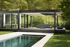 CTN House by Brengues Le Pavec Architectes « HomeAdore Pool House Designs, Backyard Pool Designs, Modern Pool House, Modern House Design, Cabinet D Architecture, Architecture Design, Ancient Architecture, Sustainable Architecture, Landscape Architecture