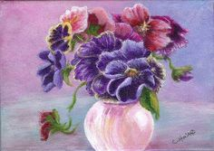 """Pansies""  acrylic on canvas by Catherine Howard"