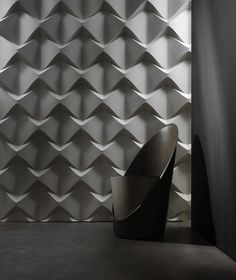 It's a bit space-age for my taste, but it would be a lovely acoustic wall patterning.