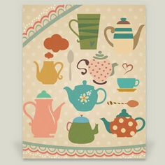 Teapots by Halamo Designs on BoomBoom Prints