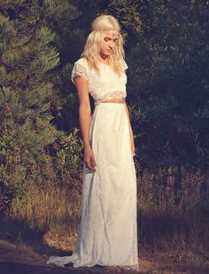 Like a crop top and skirt combo. | All The Boho Wedding Inspiration You Could Possibly Need