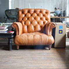 Our favorite spot and favorite chair at the Izola Offices.