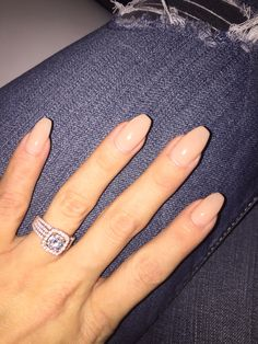 2kt Rose Gold Custom made just for me :-)!!! now that I have learned how to upload pics, expect more from me ;-P coffin nails nude/Samoan Sand by OPI and American Eagle Denim in the Fall