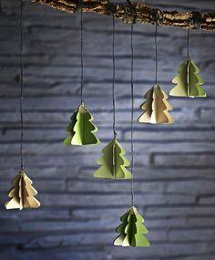 Hjemmelavet julepynt: Lav smukke, glimtende juletræer | ISABELLAS