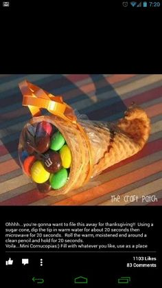 Great idea for fall parties at school or the kids Thanksgiving table