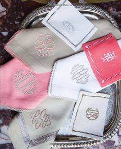 Monograms For The Home Monogram Stickers, Vinyl Monogram, Monogram Fonts, Monogram Letters, Embroidery Fonts, Machine Embroidery, Embroidery Designs, Monogrammed Napkins, Design Basics
