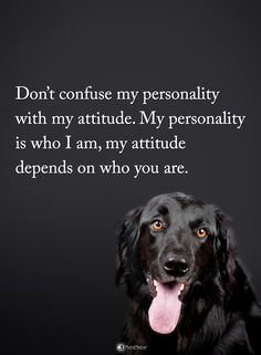 Don't confuse my personality with my attitude. My personality is who I am, my attitude depends on who you are. #powerofpositivity #positivewords #positivethinking #inspirationalquote #motivationalquotes #quotes #life #love #hope #faith #respect #personality #attitude #depends #character