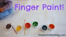 Homemade finger paint fun for little ones!