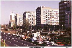 Leipzig 1976 - Blick auf den Stadtring - Herbert Wiele Berlin City, East Germany, Socialism, Paris, Cold War, San Francisco Skyline, New York Skyline, Travel, Cities