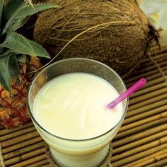 Latte di cocco e ananas