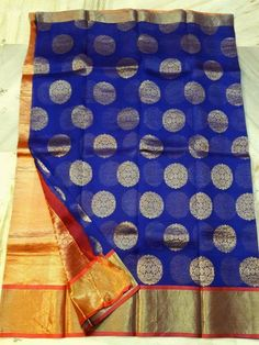 Kanchi Organza full saree same zari flowers only4550+⛵♀♀♀ Order what'sapp 919573737490