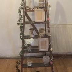 Wooden ladders ideal for home decoration or as a towel rail in the bathroom / Upcycling