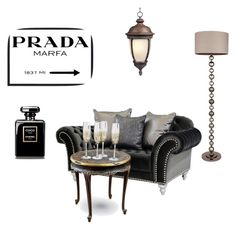 """Untitled #5"" by natalie-bachova on Polyvore featuring interior, interiors, interior design, home, home decor, interior decorating, Prada and Maxim"