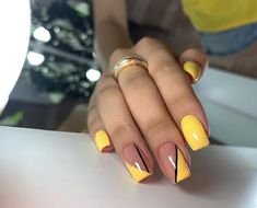 Just paint a random touch on your nails and cover it with bright nail polish. You will find different beauty. I hope to find more inspiration for your nail design Stylish Nails, Trendy Nails, Colorful Nail Designs, Cute Summer Nail Designs, Short Nail Designs, Nail Designs Spring, Simple Nail Designs, Nail Art Designs, Fire Nails