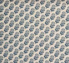 Rambagh Reverse Indigo  hand printed on 100% Natural Linen