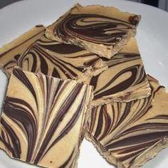dessertrecipes180.com | Candy: Tiger Butter Chocolates