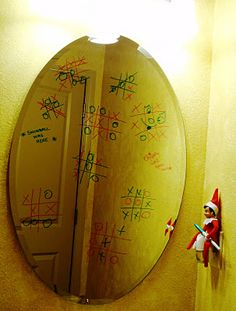 Elf on the Shelf-tick tack toe-play together-lasts several nights