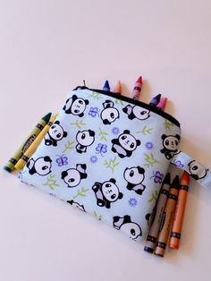 Sale!!Crayons Pouch / Panda