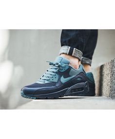 74b0ae4500a0 Nike Air Max 90 Essential Midnight Navy Smokey Blue Shoes Mens Sale UK