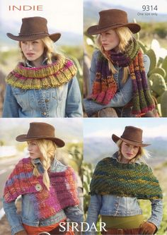 Scarf, Wrap, Cape and Cowl in Sirdar Indie (9314)
