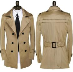 Men's clothing plus size spring and autumn trench coats men medium-long coat double breasted mens overcoat teenage outerwear