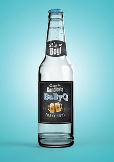 BabyQ Personalized DIGITAL Beer Labels for Baby by LyonsPrints