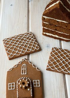 Gingerbread House Cake....A fancy twist on your go-to gingerbread house if you want to mix it up for a change