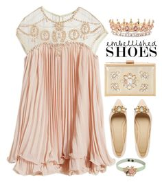 """""""Embellished Shoes"""" by cynthia6 ❤ liked on Polyvore featuring WithChic, Jane Norman, RED Valentino and embellished"""